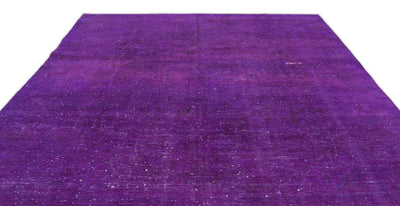 Fuchsia Over Dyed Vintage XLarge Rug 9'5'' x 12'11'' ft 288 x 394 cm