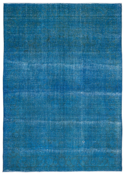 Turquoise  Over Dyed Vintage XLarge Rug 9'6'' x 13'5'' ft 290 x 408 cm