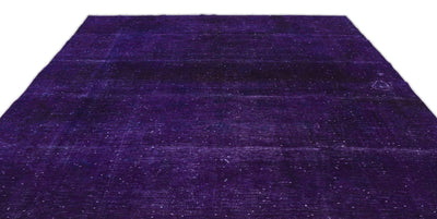 Purple Over Dyed Vintage XLarge Rug 9'5'' x 12'11'' ft 287 x 393 cm