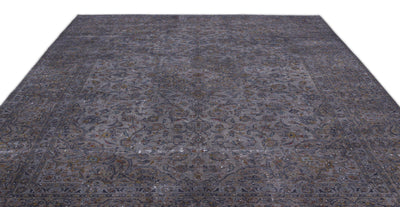 Gray Over Dyed Vintage XLarge Rug 9'10'' x 12'12'' ft 300 x 395 cm