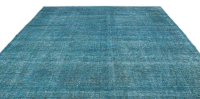 Turquoise  Over Dyed Vintage XLarge Rug 9'5'' x 12'7'' ft 287 x 384 cm