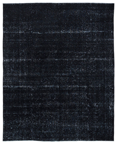 Black Over Dyed Vintage XLarge Rug 9'9'' x 12'2'' ft 297 x 372 cm