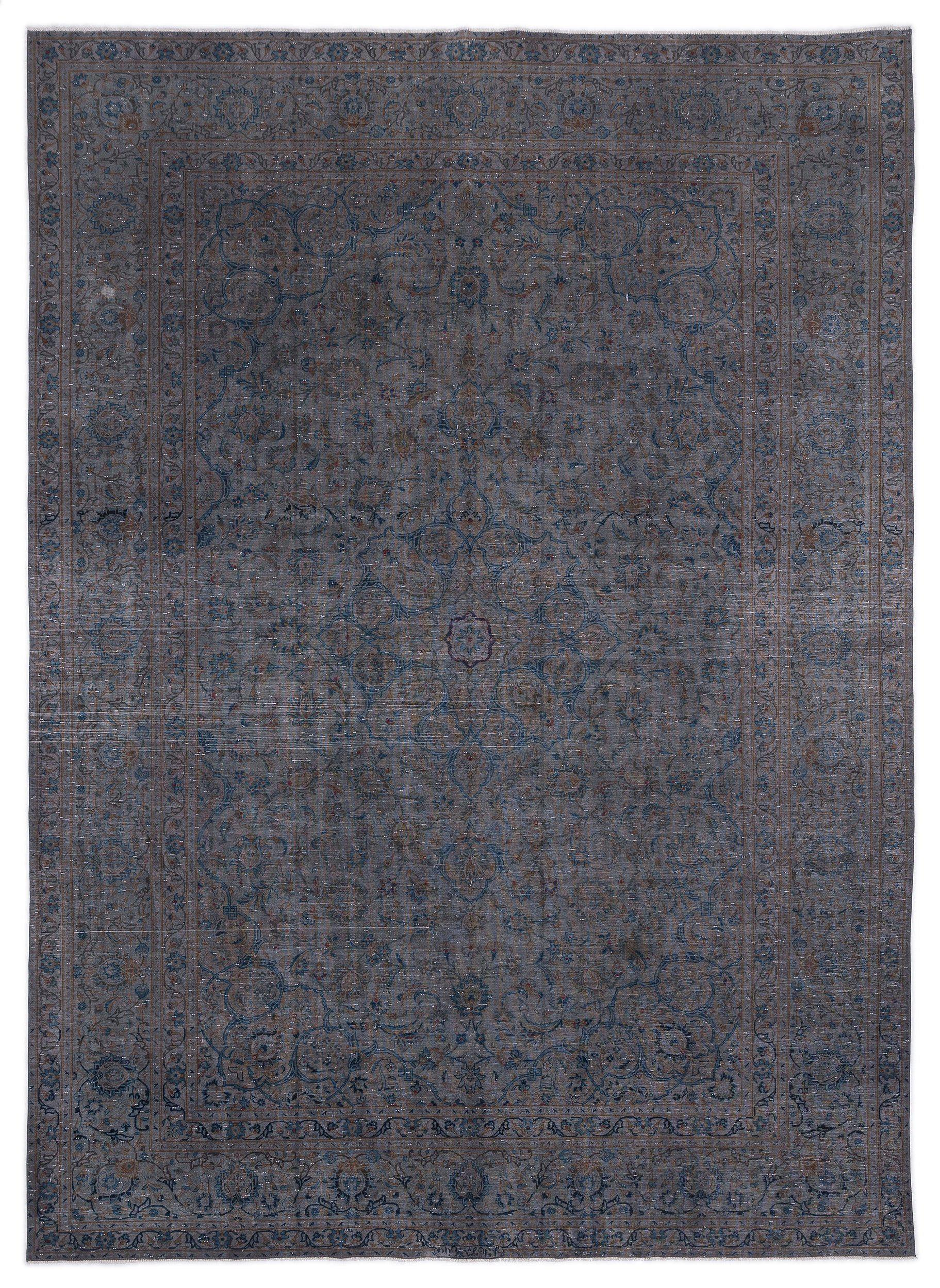 Gray Over Dyed Vintage XLarge Rug 9'9'' x 13'1'' ft 296 x 400 cm