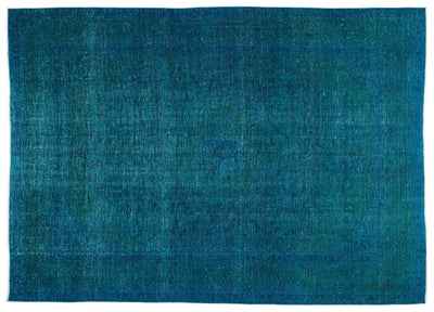 Turquoise  Over Dyed Vintage XLarge Rug 9'3'' x 12'10'' ft 282 x 390 cm