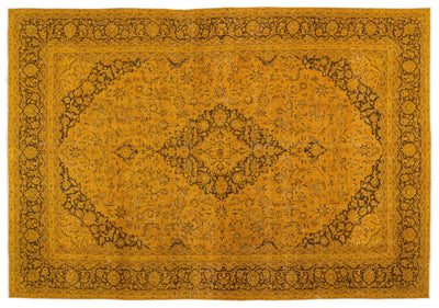 Yellow Over Dyed Vintage XLarge Rug 9'4'' x 13'1'' ft 284 x 400 cm