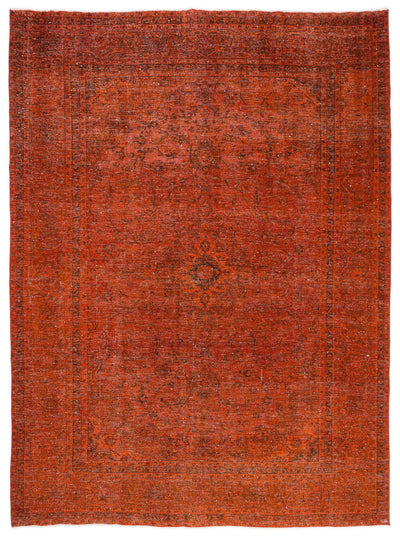 Orange Over Dyed Vintage XLarge Rug 9'4'' x 12'11'' ft 285 x 394 cm
