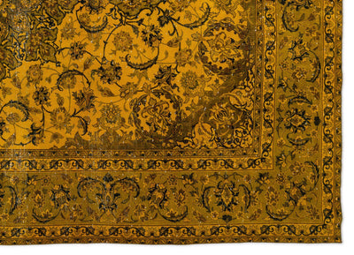 Yellow Over Dyed Vintage XLarge Rug 9'7'' x 13'9'' ft 292 x 419 cm