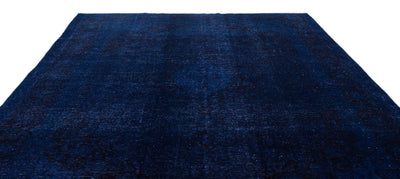 Blue Over Dyed Vintage XLarge Rug 9'6'' x 13'5'' ft 289 x 409 cm