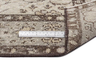 Beige Over Dyed Vintage Rug 4'10'' x 8'6'' ft 147 x 260 cm