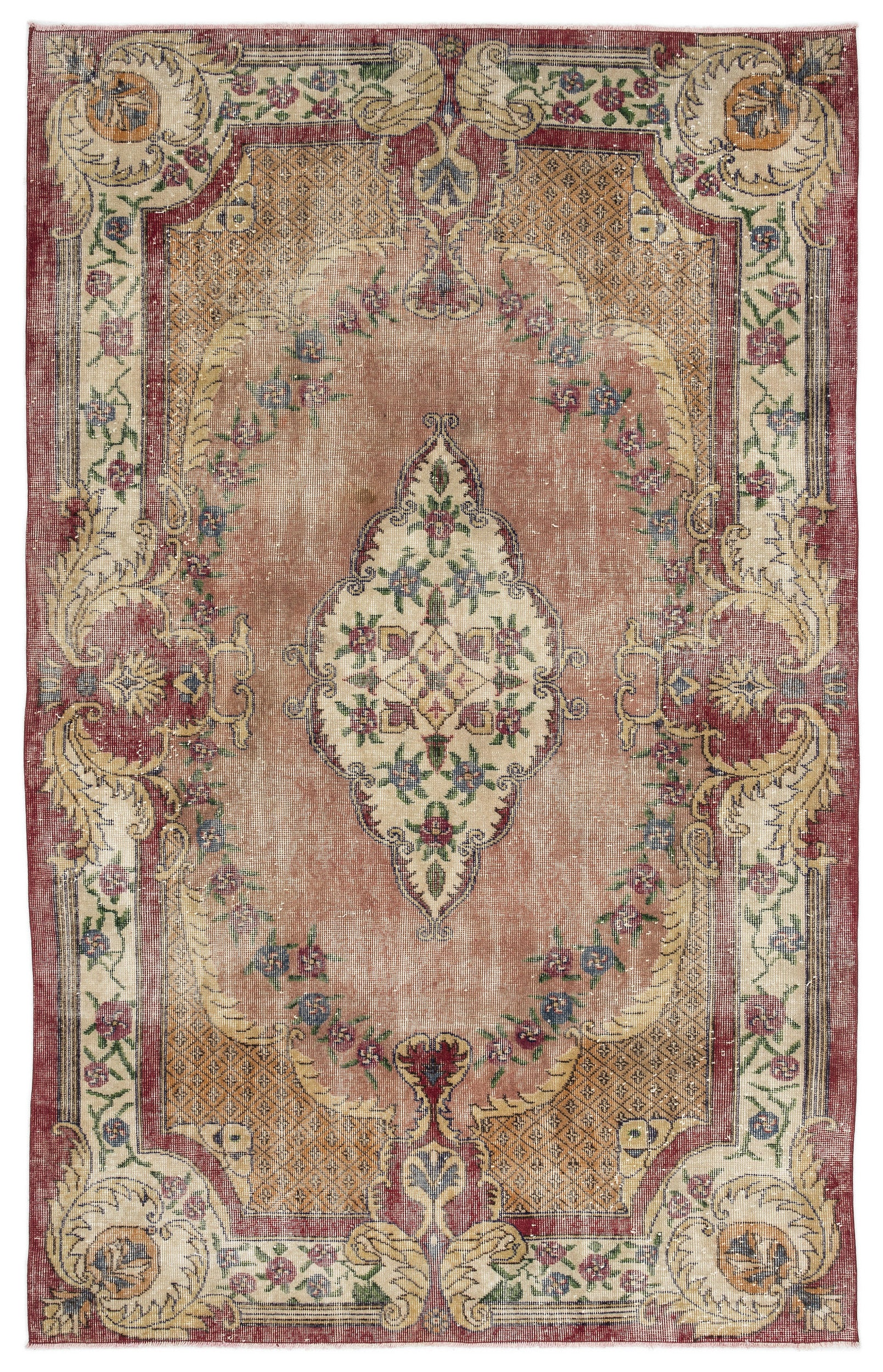 Naturel Over Dyed Vintage Rug 5'8'' x 8'11'' ft 172 x 273 cm