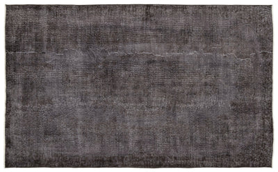 Gray Over Dyed Vintage Rug 5'6'' x 9'1'' ft 168 x 278 cm