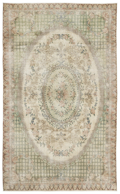 Naturel Over Dyed Vintage Rug 6'6'' x 10'8'' ft 197 x 326 cm