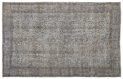 Blue Over Dyed Vintage Rug 5'8'' x 8'10'' ft 173 x 270 cm