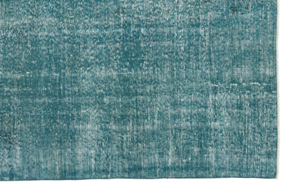 Turquoise  Over Dyed Vintage Rug 5'1'' x 8'9'' ft 155 x 266 cm