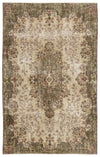 Naturel Over Dyed Vintage Rug 5'7'' x 8'11'' ft 170 x 271 cm