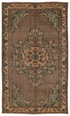 Naturel Over Dyed Vintage Rug 5'6'' x 9'3'' ft 167 x 281 cm