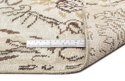 Beige Over Dyed Vintage Rug 5'11'' x 9'9'' ft 181 x 298 cm