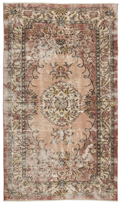 Naturel Over Dyed Vintage Rug 5'2'' x 8'11'' ft 158 x 271 cm