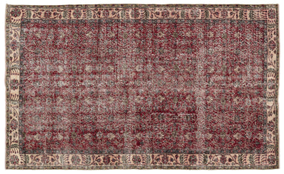 Naturel Over Dyed Vintage Rug 5'3'' x 8'7'' ft 160 x 262 cm