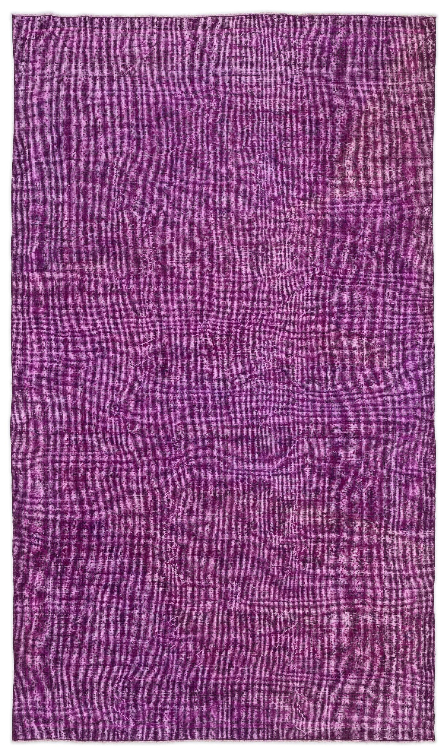 Fuchsia Over Dyed Vintage Rug 4'11'' x 8'7'' ft 151 x 262 cm