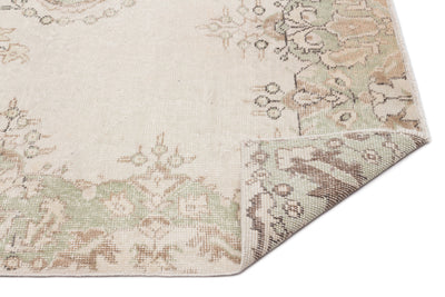 Beige Over Dyed Vintage Rug 5'8'' x 9'8'' ft 173 x 294 cm