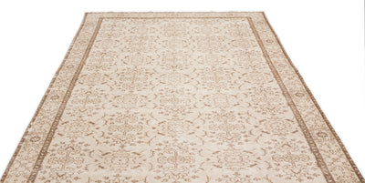 Beige Over Dyed Vintage Rug 6'2'' x 10'1'' ft 187 x 307 cm