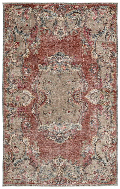 Naturel Over Dyed Vintage Rug 6'6'' x 10'3'' ft 198 x 313 cm