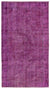 Fuchsia Over Dyed Vintage Rug 4'9'' x 8'10'' ft 145 x 268 cm