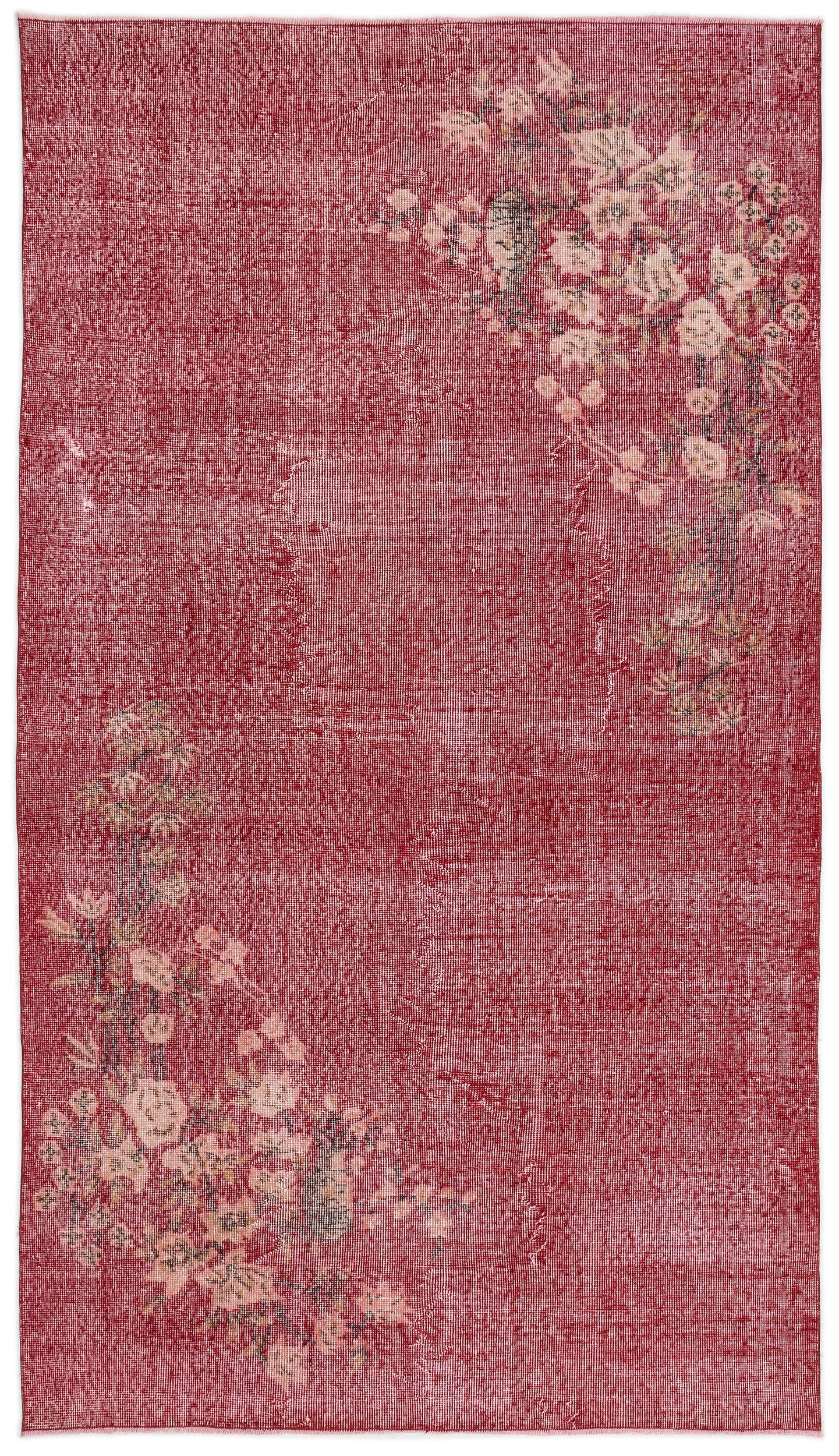 Retro Over Dyed Vintage Rug 4'10'' x 8'5'' ft 147 x 257 cm