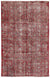 Red Over Dyed Vintage Rug 5'9'' x 8'10'' ft 175 x 268 cm