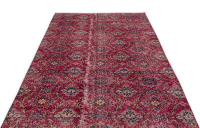 Retro Over Dyed Vintage Rug 4'10'' x 9'2'' ft 148 x 280 cm