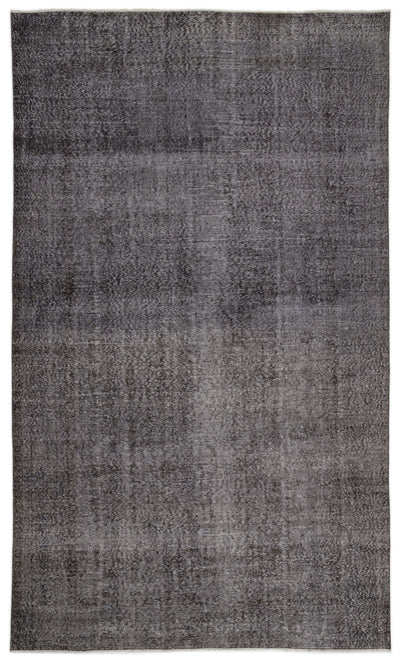 Gray Over Dyed Vintage Rug 6'5'' x 10'7'' ft 195 x 322 cm