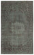 Gray Over Dyed Vintage Rug 5'9'' x 9'7'' ft 175 x 292 cm