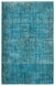 Turquoise  Over Dyed Vintage Rug 5'12'' x 9'7'' ft 182 x 292 cm