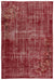 Red Over Dyed Vintage Rug 6'8'' x 10'2'' ft 203 x 310 cm