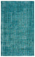 Turquoise  Over Dyed Vintage Rug 5'11'' x 9'8'' ft 180 x 295 cm