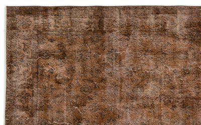 Brown Over Dyed Vintage Rug 6'4'' x 10'2'' ft 192 x 310 cm