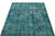 Turquoise  Over Dyed Vintage Rug 3'8'' x 6'5'' ft 111 x 196 cm