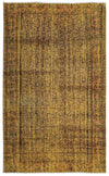 Yellow Over Dyed Vintage Rug 5'3'' x 8'6'' ft 160 x 260 cm