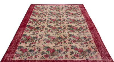 Retro Over Dyed Vintage Rug 5'3'' x 8'5'' ft 161 x 256 cm