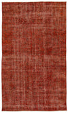 Orange Over Dyed Vintage Rug 4'11'' x 8'4'' ft 149 x 254 cm