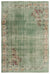 Green Over Dyed Vintage Rug 6'9'' x 9'9'' ft 205 x 296 cm