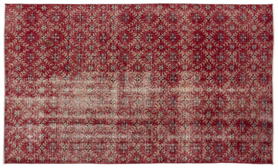 Retro Over Dyed Vintage Rug 5'2'' x 8'10'' ft 157 x 268 cm