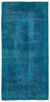 Turquoise  Over Dyed Vintage Rug 5'5'' x 11'1'' ft 165 x 338 cm