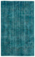 Turquoise  Over Dyed Vintage Rug 5'11'' x 10'0'' ft 180 x 305 cm