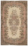 Beige Over Dyed Vintage Rug 5'9'' x 9'7'' ft 175 x 291 cm