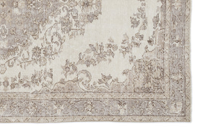 Beige Over Dyed Vintage Rug 5'5'' x 8'7'' ft 166 x 262 cm