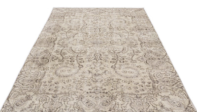 Beige Over Dyed Vintage Rug 5'4'' x 8'5'' ft 162 x 257 cm