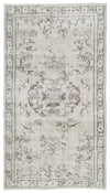 Beige Over Dyed Vintage Rug 5'1'' x 8'8'' ft 155 x 265 cm