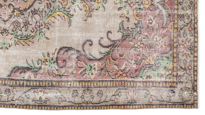 Naturel Over Dyed Vintage Rug 5'3'' x 8'11'' ft 160 x 272 cm